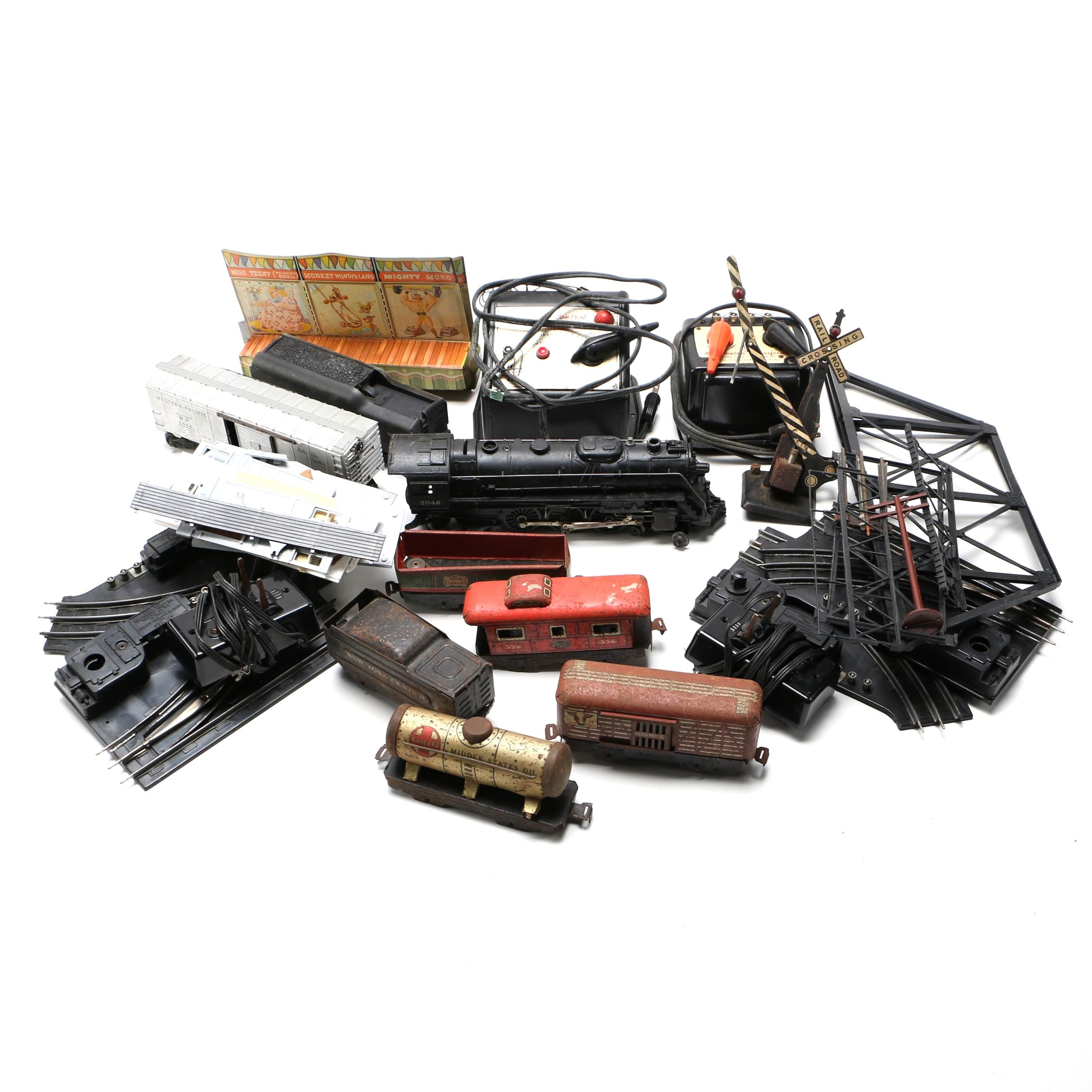 Collection of Lionel Train Cars and Accessories