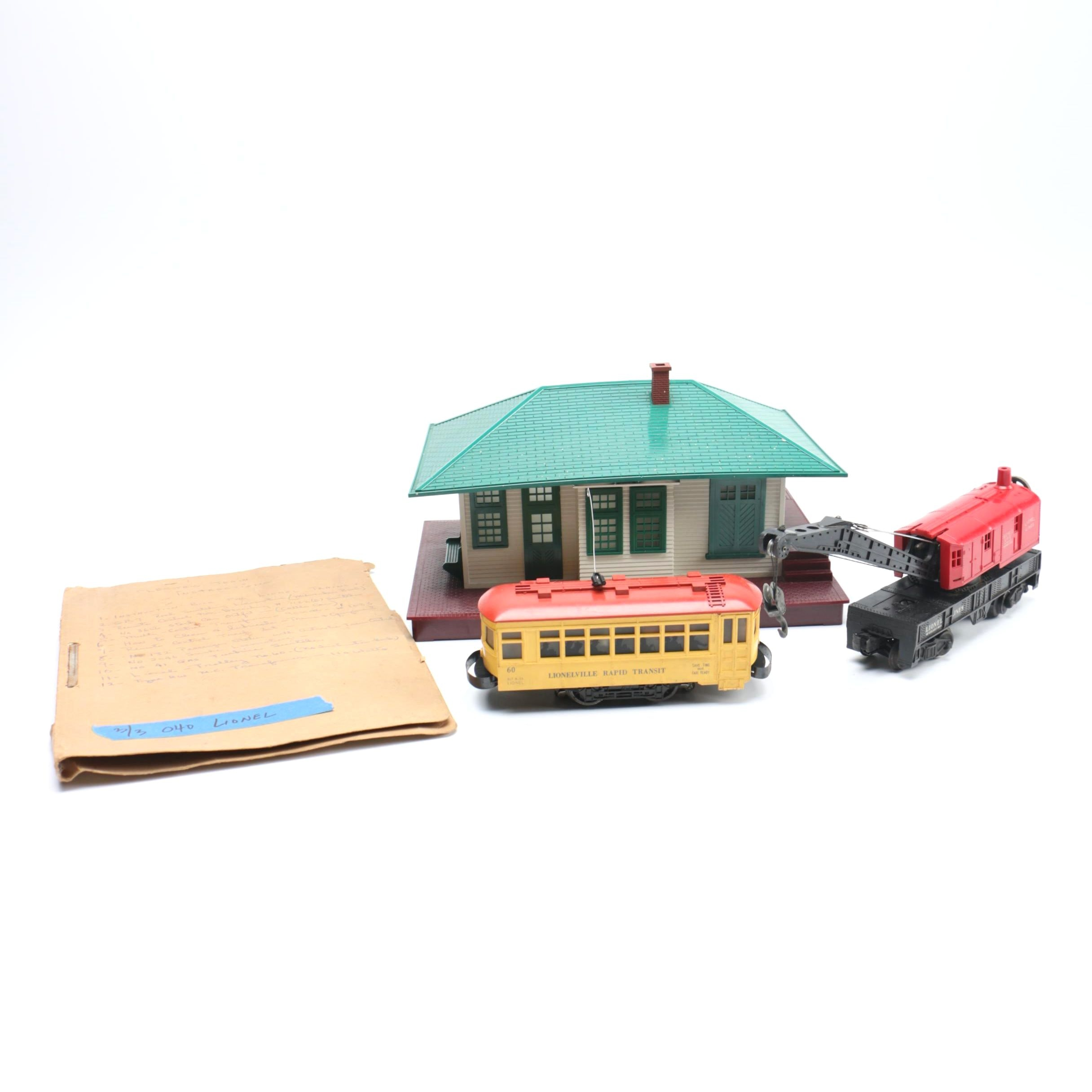 Lionel Trains and Train Stop Building