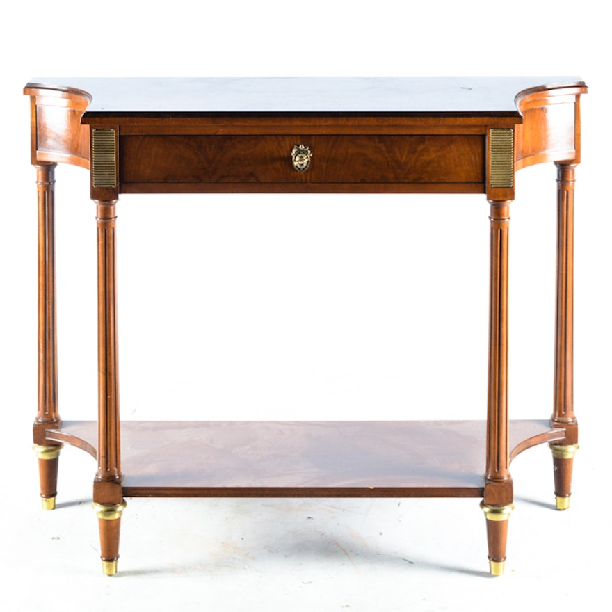 Vintage Federal Style Console Table By Baker Furniture