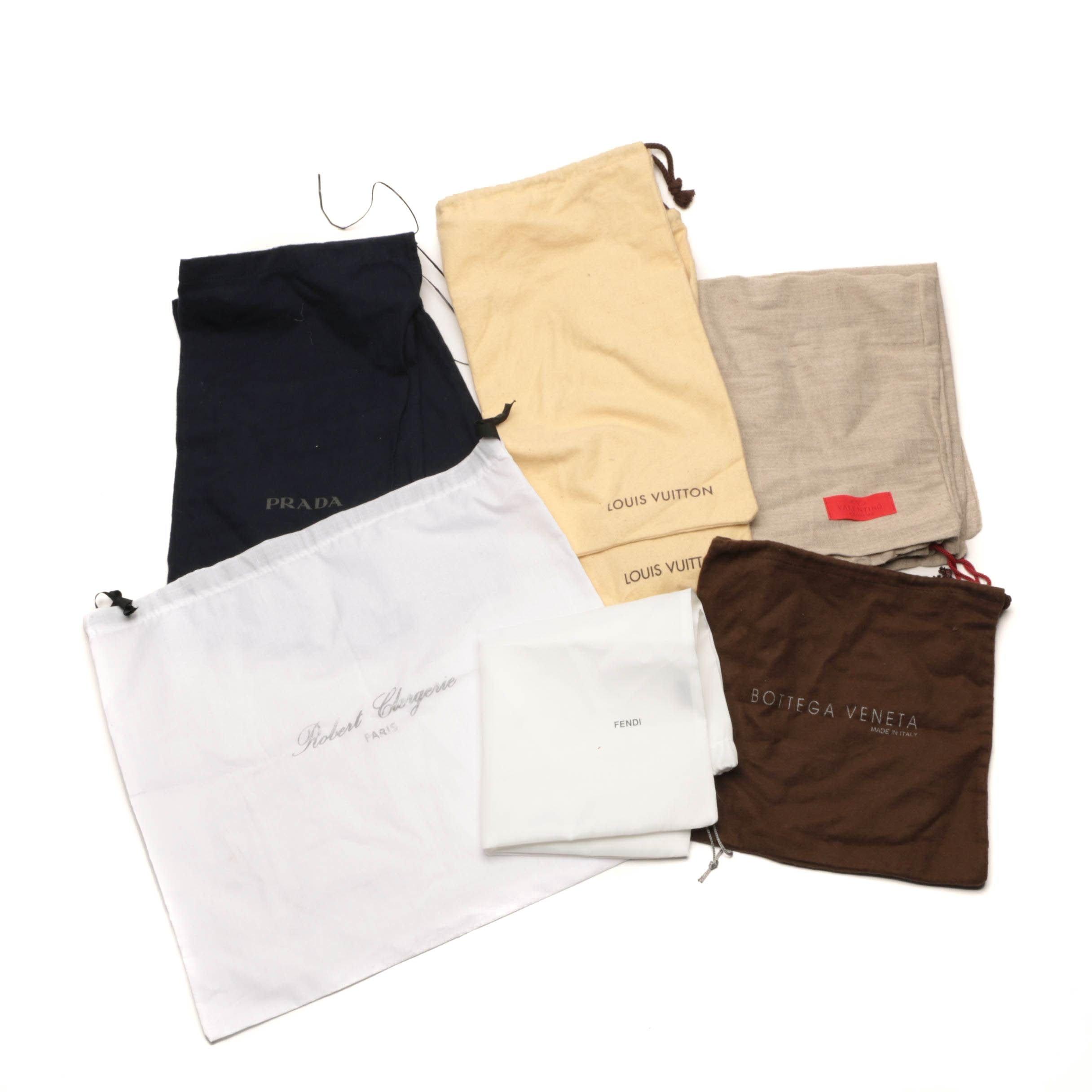 Designer Dust Bags Including Louis Vuitton and Prada