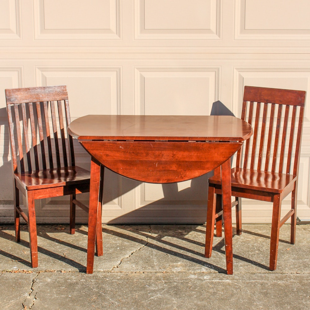 Mission Style Wood Table And Chairs