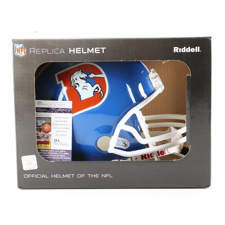 4d7f28d79 John Elway Signed Helmet   EBTH