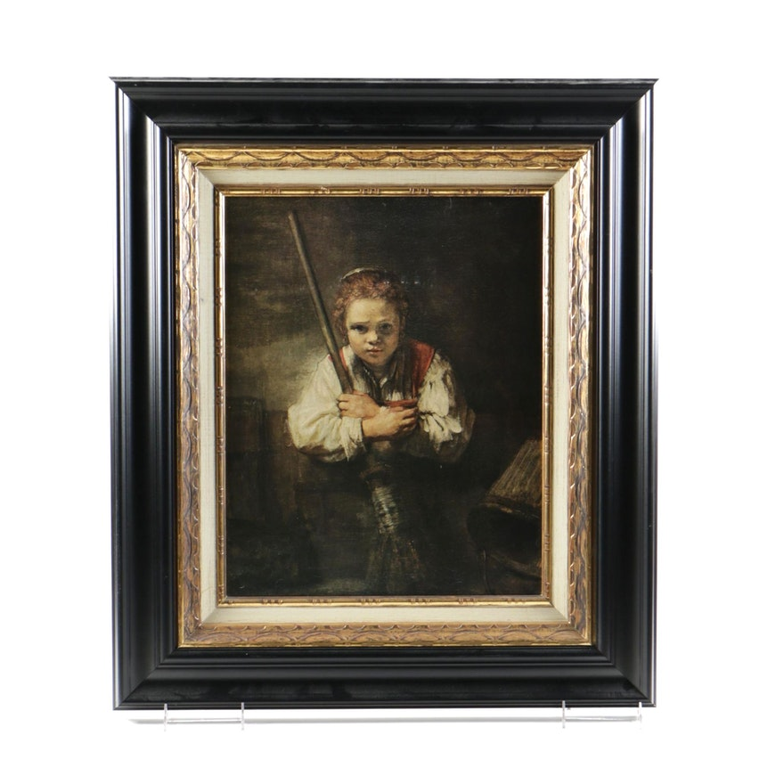 Rembrandt Harmenszoon Van Rijn Giclee On Canvas Girl With A Broom