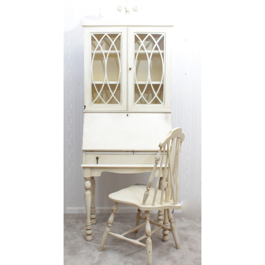 Brilliant Antique Secretary Desk With Hutch And Chair Unemploymentrelief Wooden Chair Designs For Living Room Unemploymentrelieforg