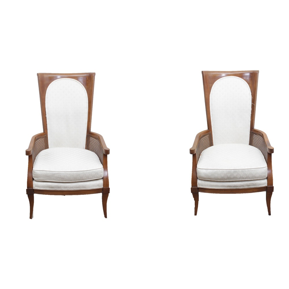 pair of wooden arm chairs - Retro Chairs