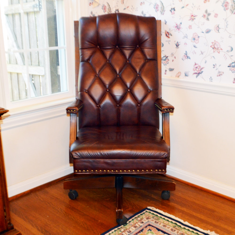 Leather Executive Office Chair by Black