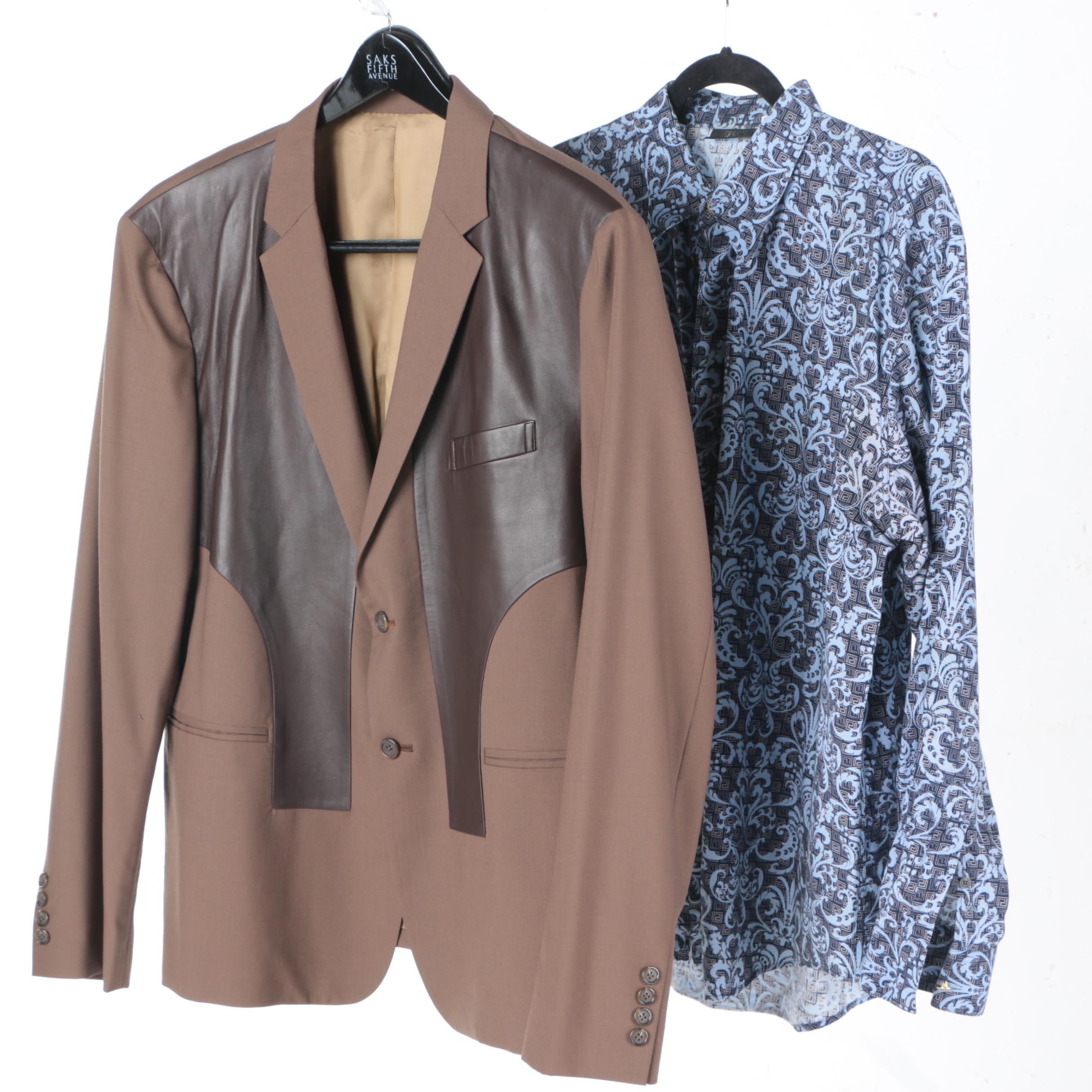 Versace Shirt and Custom Western Blazer