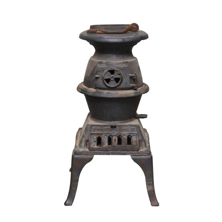 Antique Black Cast Iron Furnace From Birmingham Stove & Range Co.