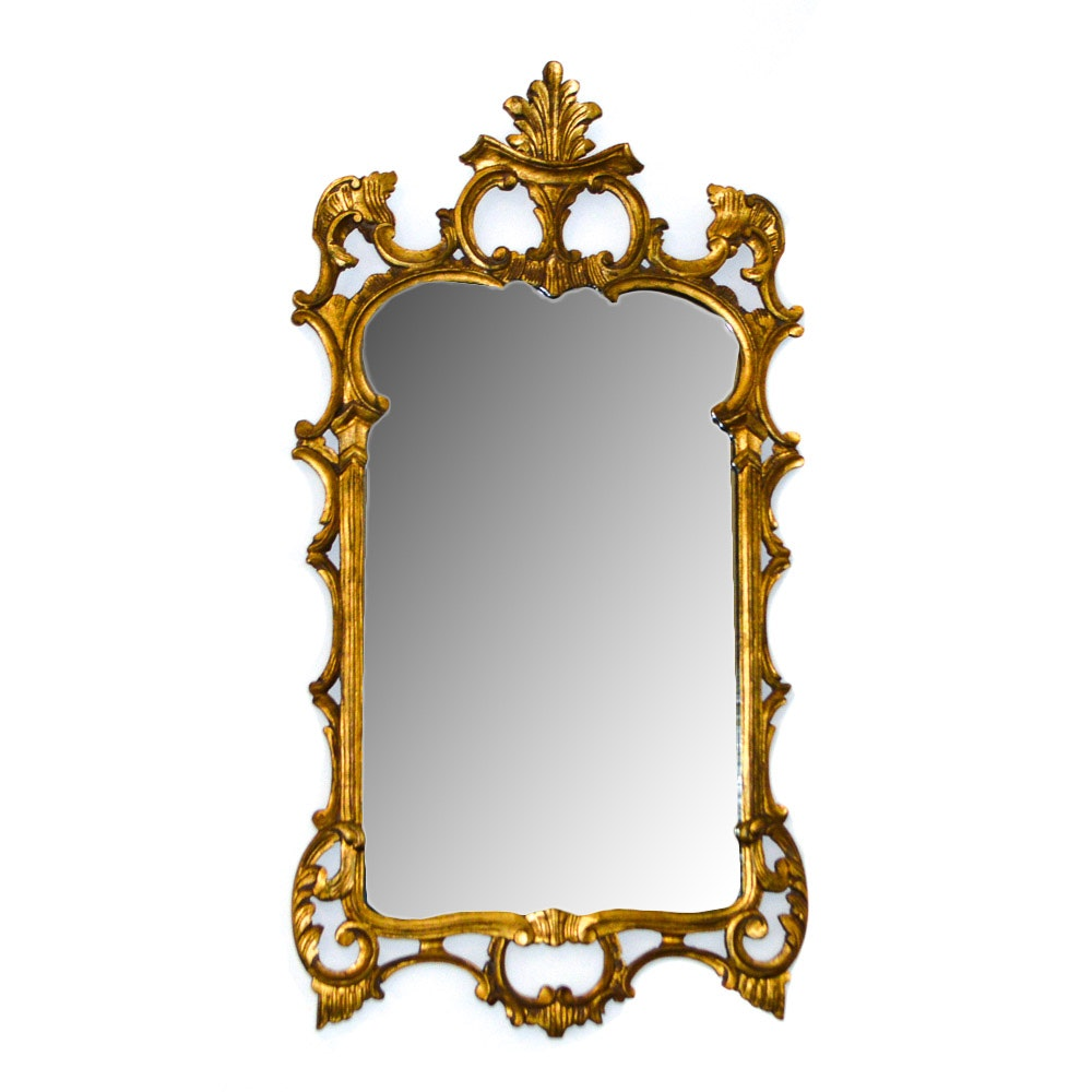 Carved Gold Tone Mirror