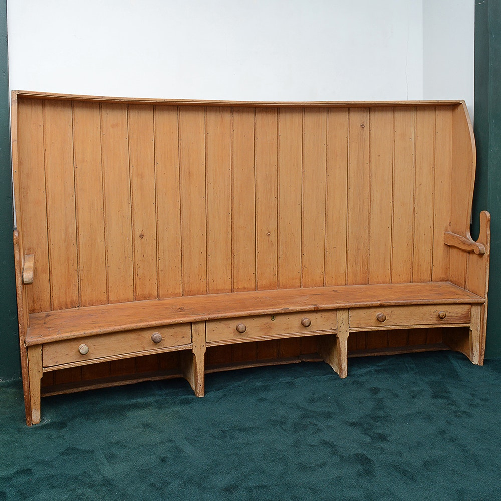 Early Antique Settle Bench