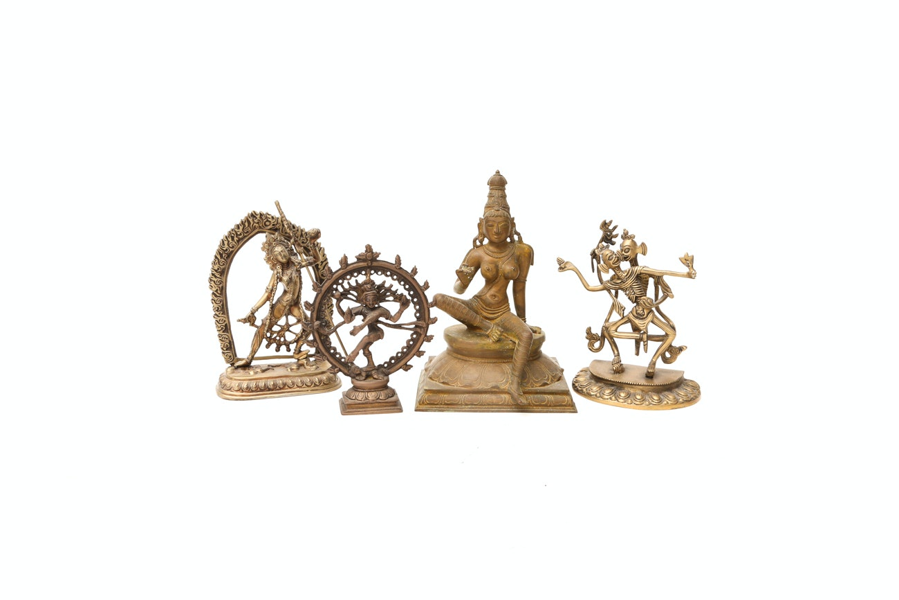 Collection Of Indian Bronze And Brass Figures