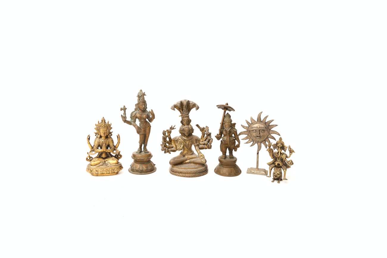 Collection Of Brass And Bronze Figurines