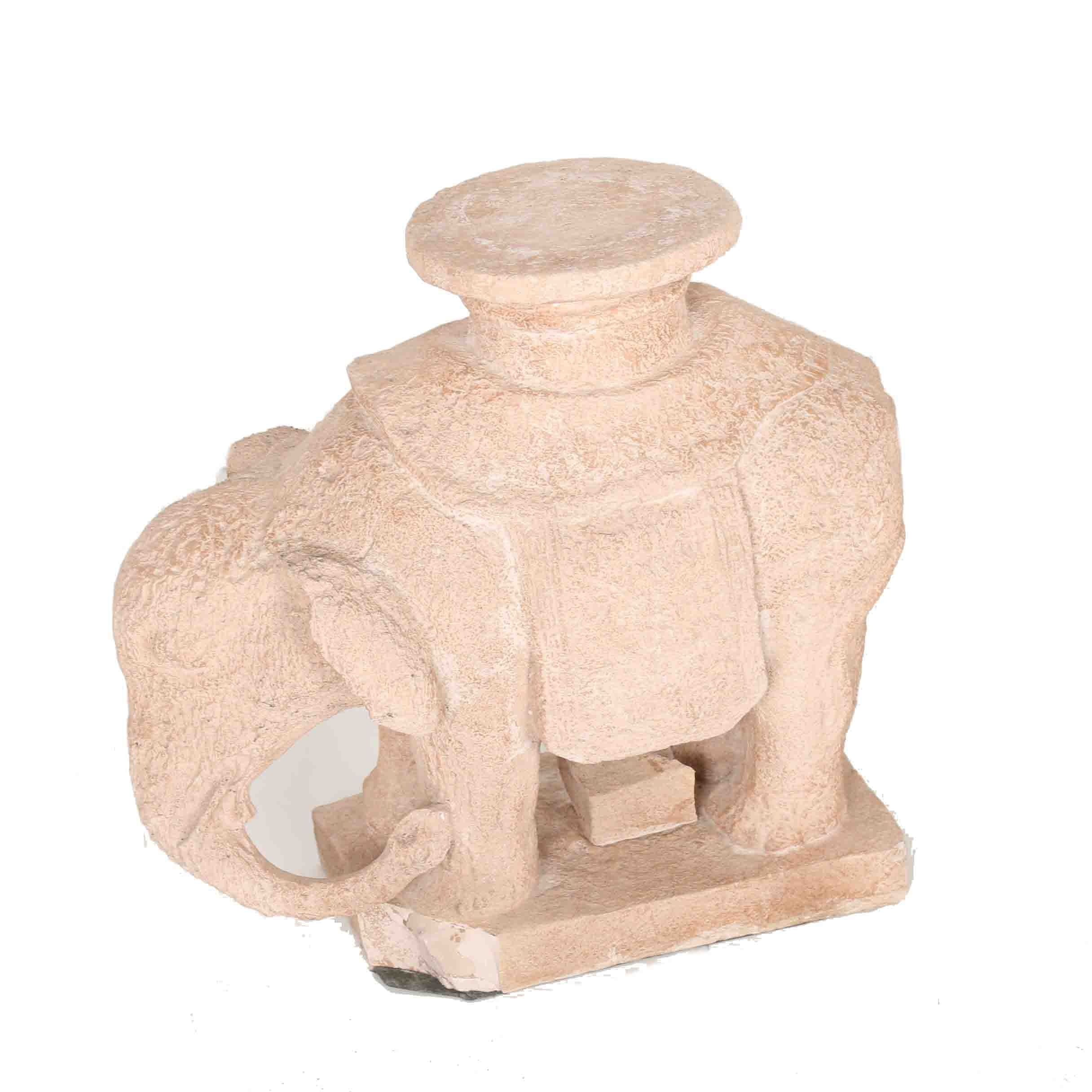 Austin Prod. Inc. Ceramic Reproduction Elephant Sculpture