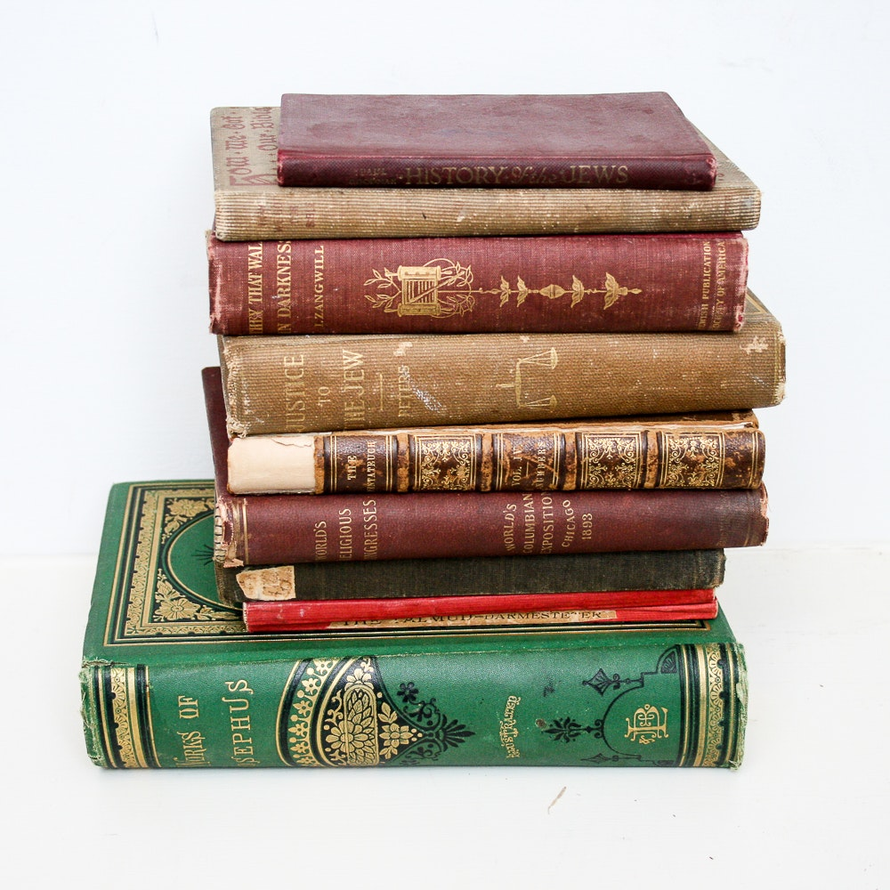 Vintage Judaica Book Collection