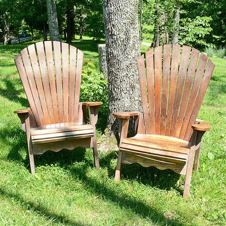 Wood Slat Garden Chairs