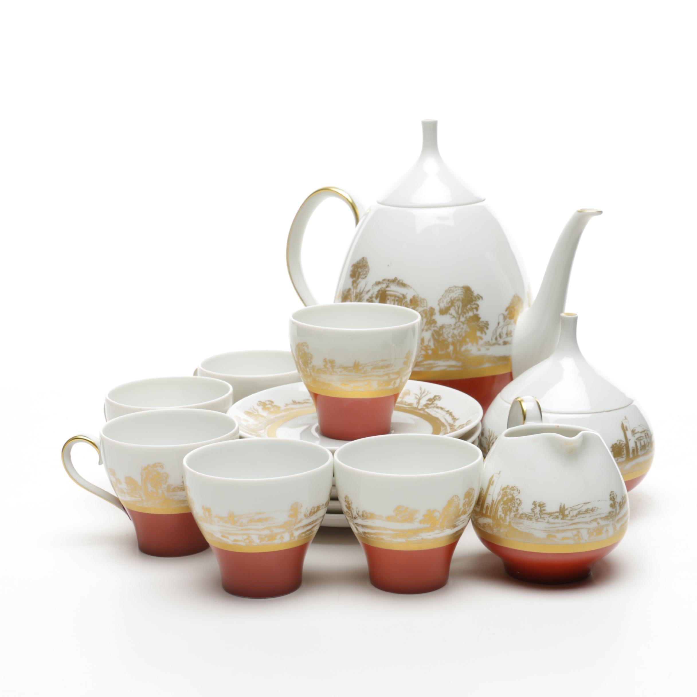 """Lorenz Hutschenreuther """"Poesie"""" Tea Set"""