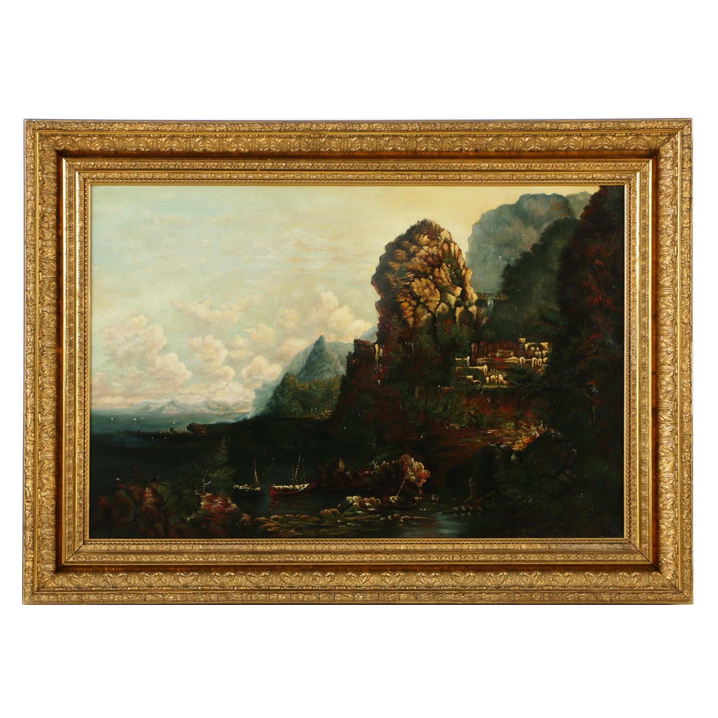 Oil Painting on Canvas Romantic Landscape
