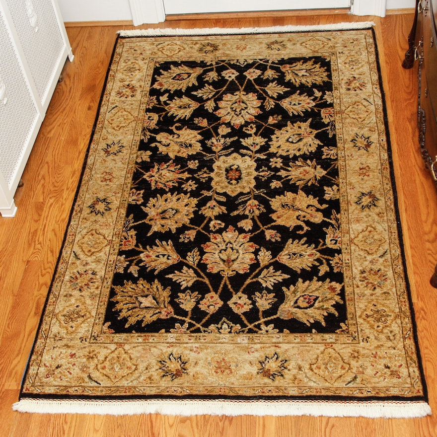 Hand-Knotted Indian Wool Area Rug By The Rug Gallery