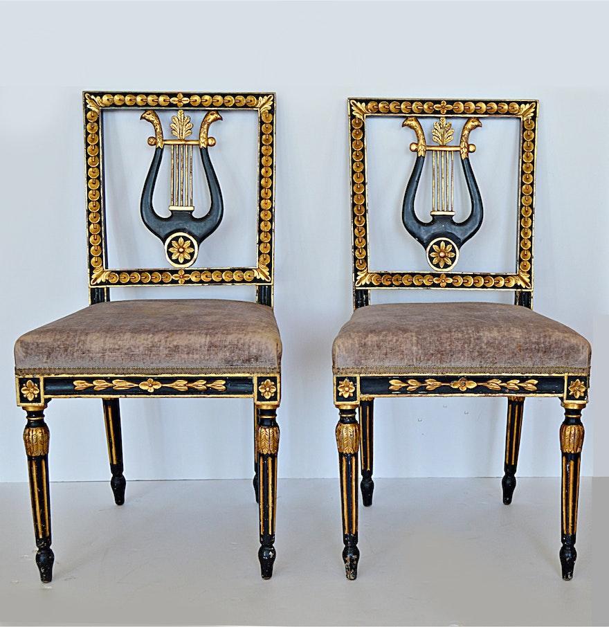 Late 19th century louis xvi style salon chairs ebth for Salon style louis 16