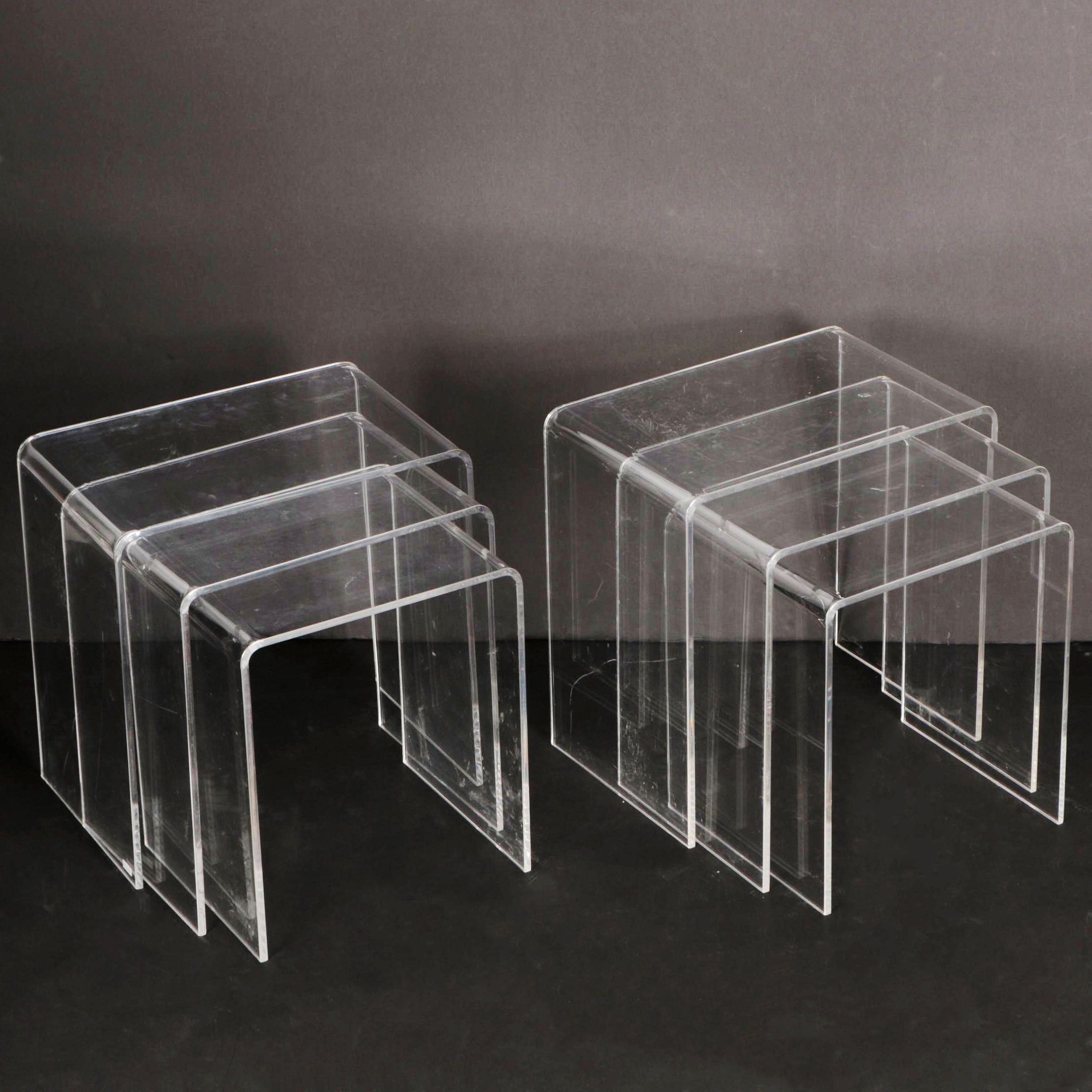 Mid Century Modern Style Bent Lucite Nesting Tables ...