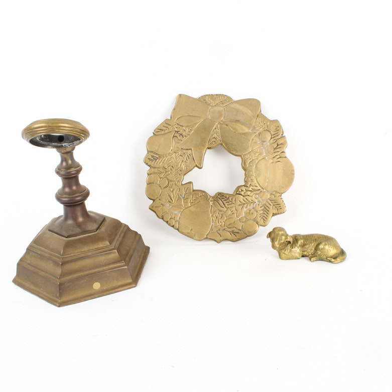 Collection of Vintage Brass Home Decor