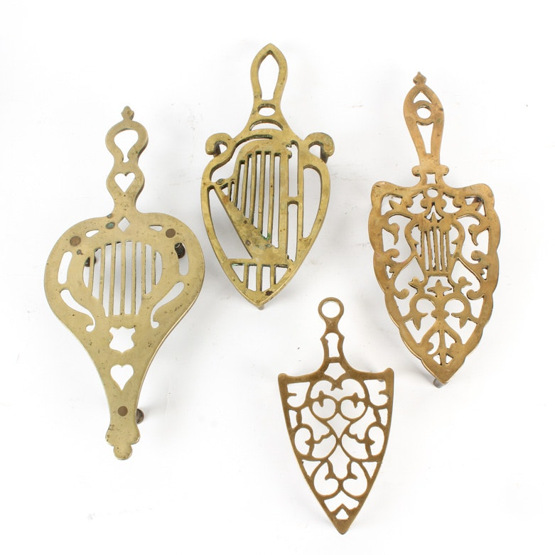 Collection of Brass Trivets