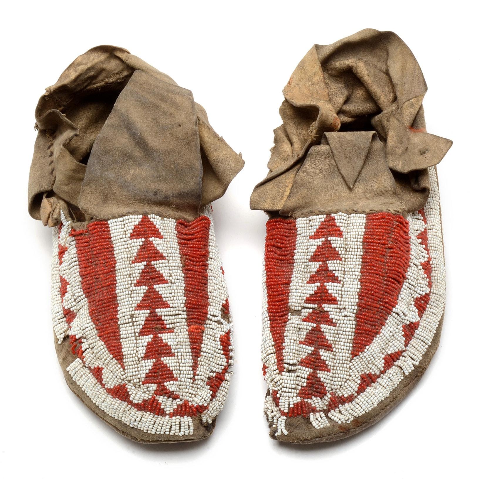 Antique Sioux Moccasins