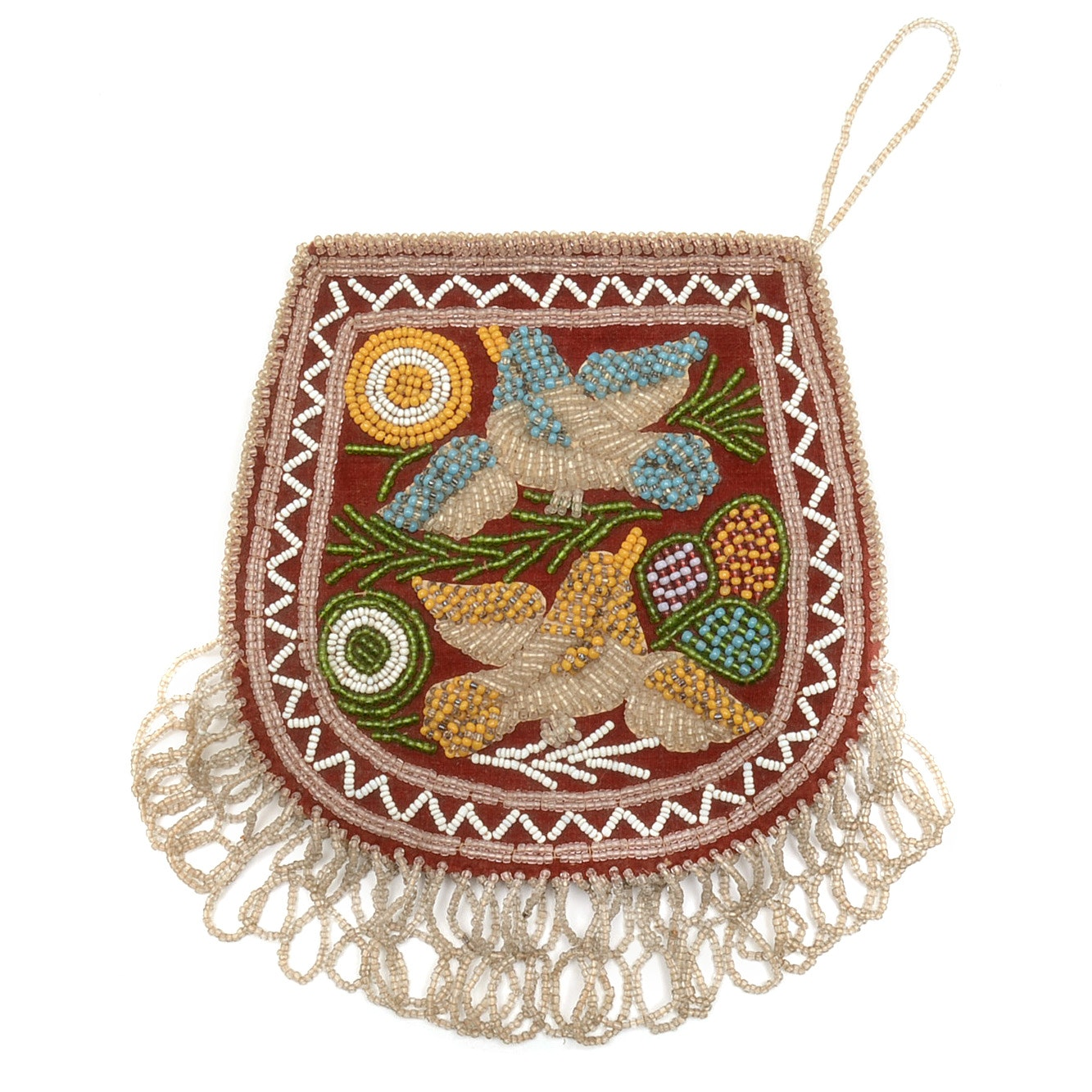 Native American Beaded Pouch Purse