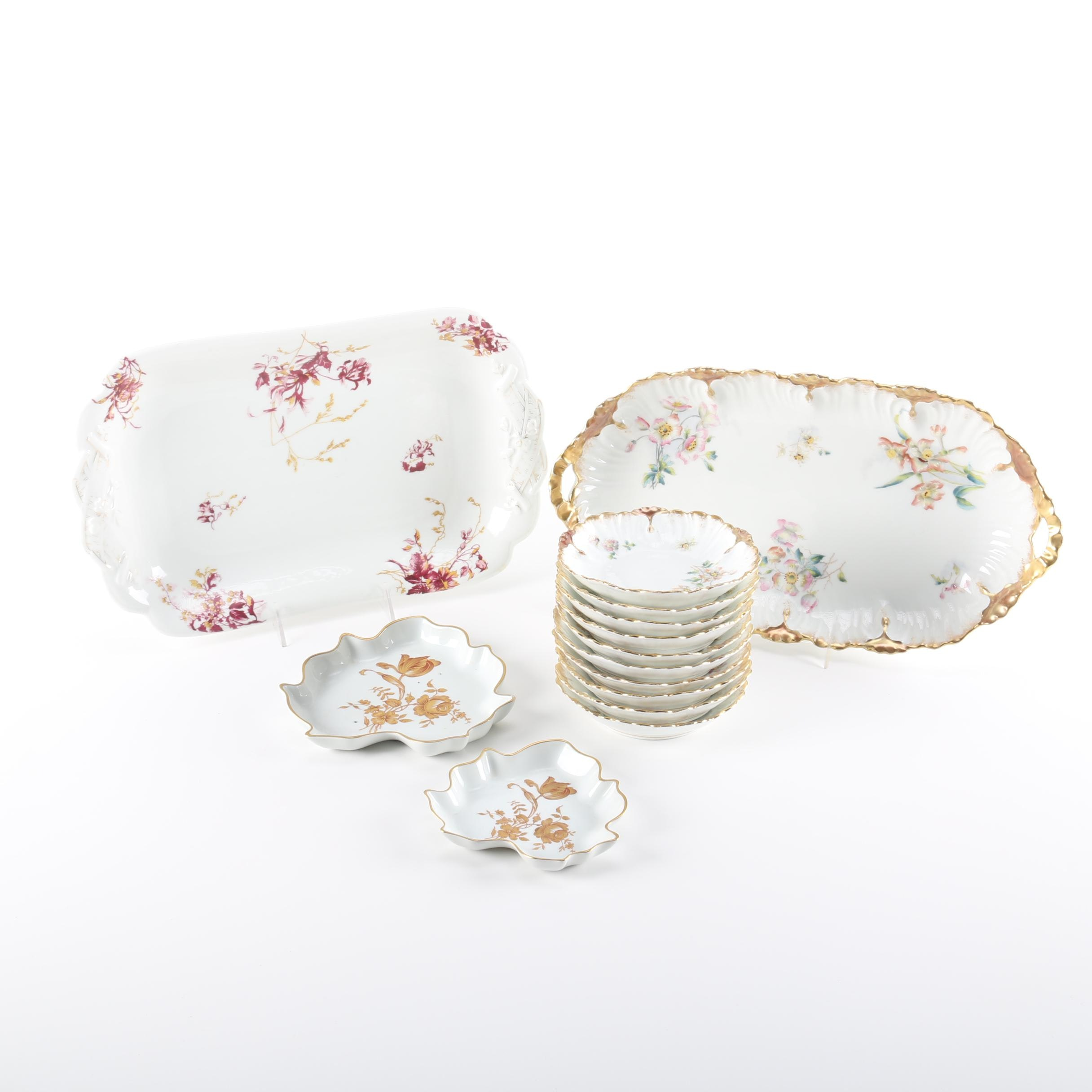 Antique Haviland and Laviolette Limoges Tableware
