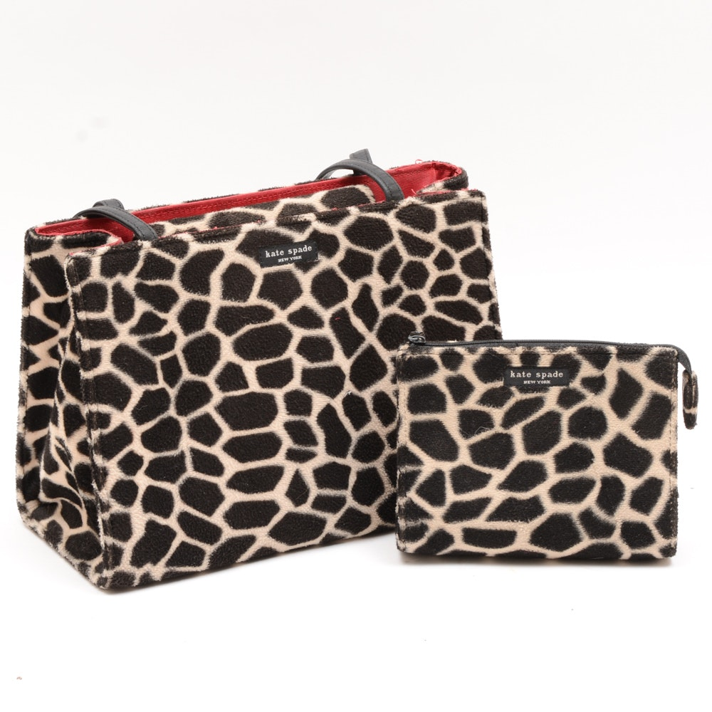 Kate Spade Giraffe Print Handbag and Wallet