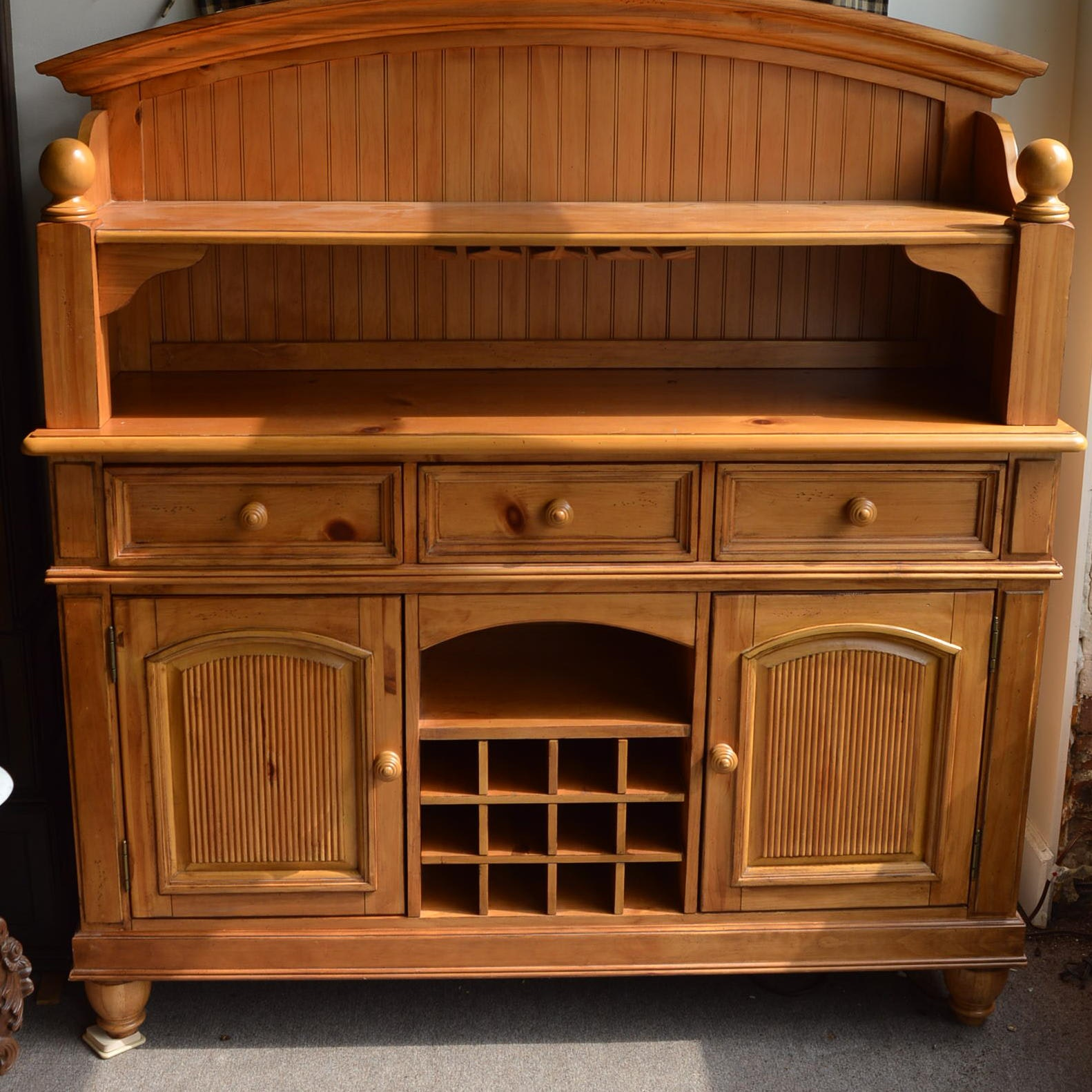 Pine Buffet Cabinet by Broyhill