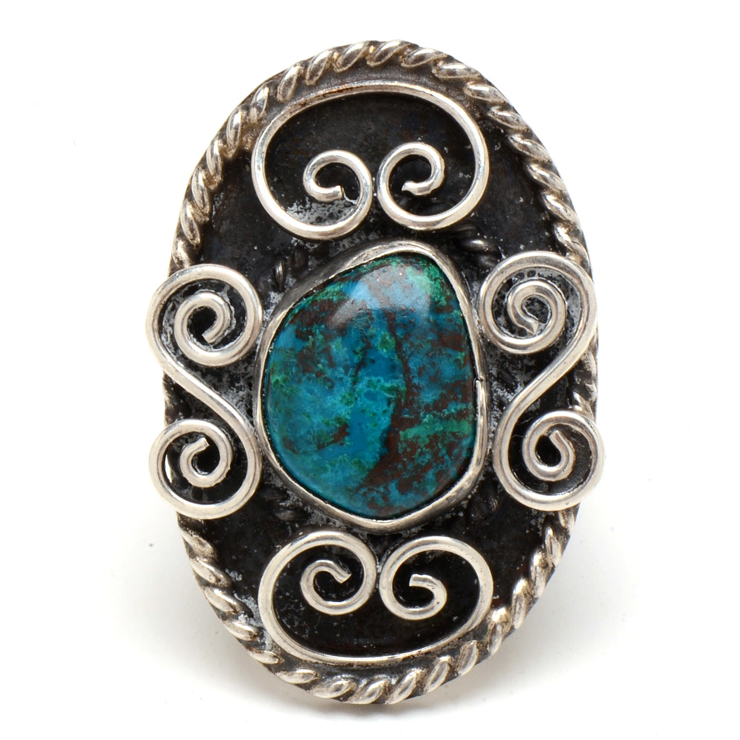Sterling Silver Eilat Stone Statement Ring