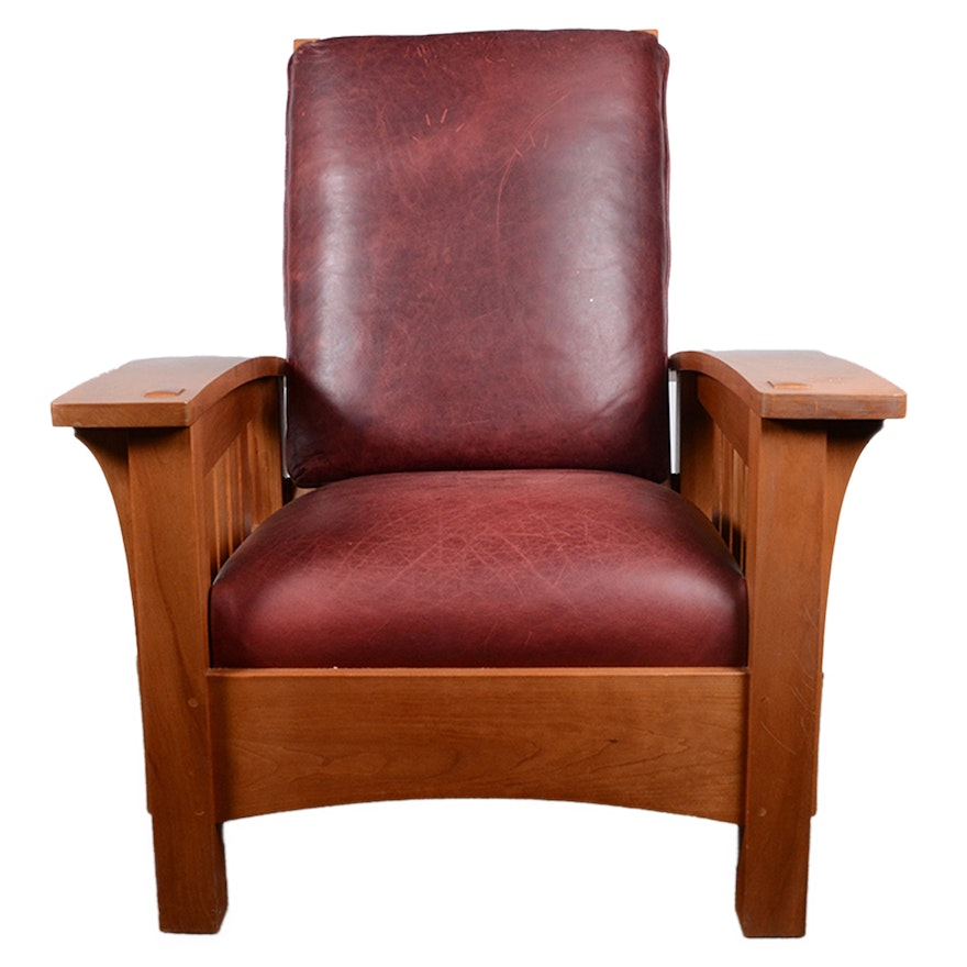 Surprising Mission Style Bow Arm Morris Chair And Ottoman From Stickley Dailytribune Chair Design For Home Dailytribuneorg
