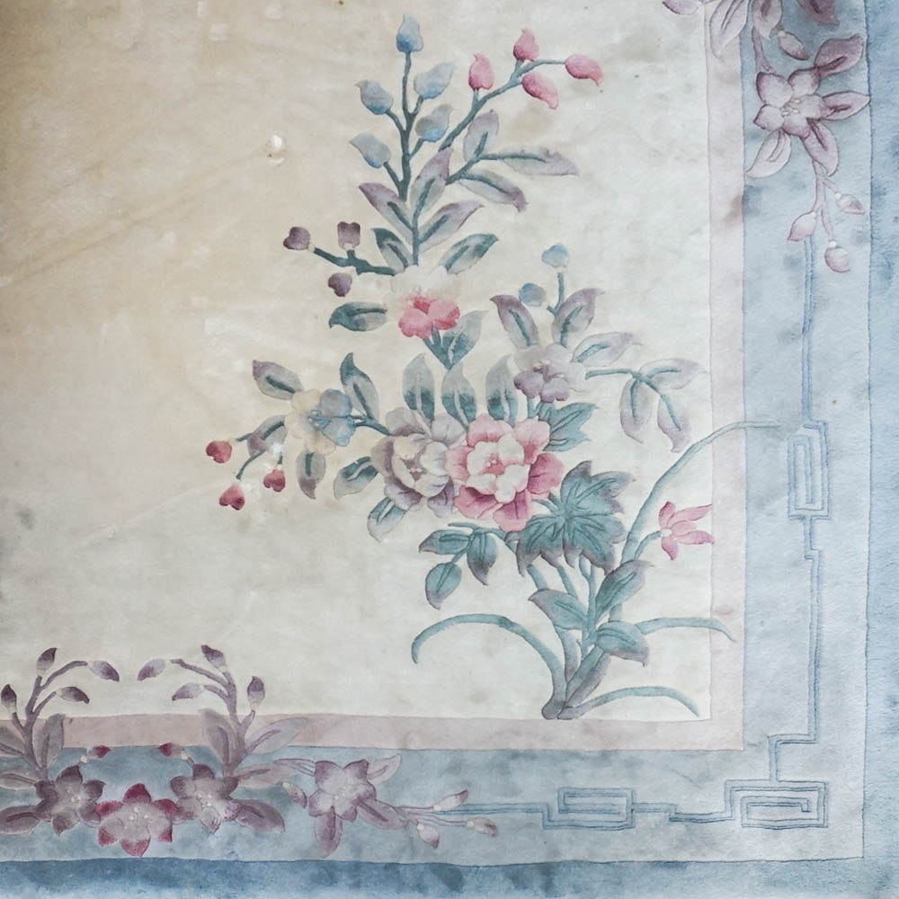 Hand Knotted Chinese Wool Area Rug