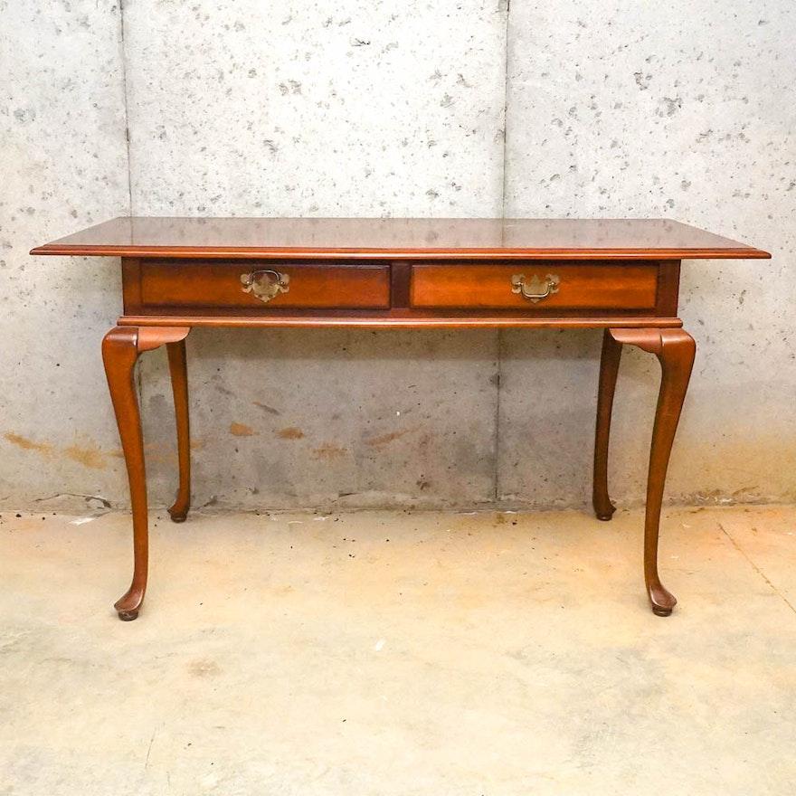 Vintage Queen Anne Style Cherry Desk ... - Vintage Queen Anne Style Cherry Desk : EBTH