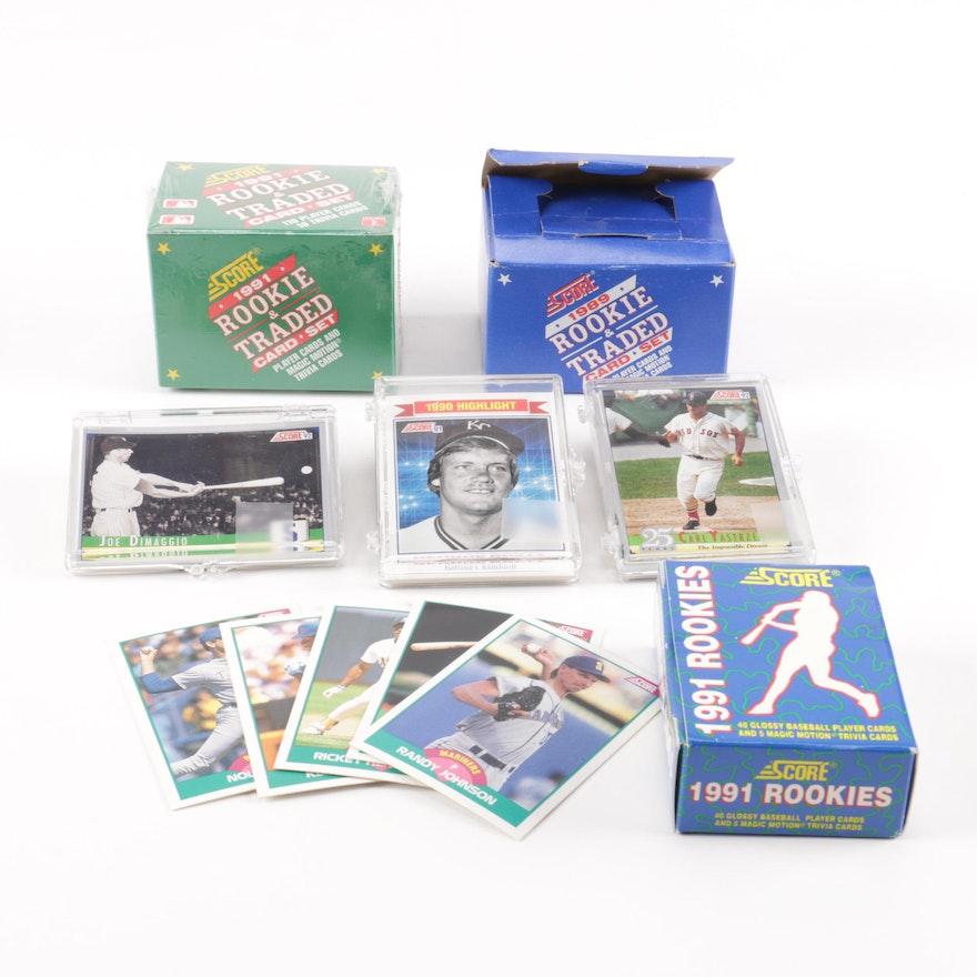 1989 1991 Score Baseball Cards
