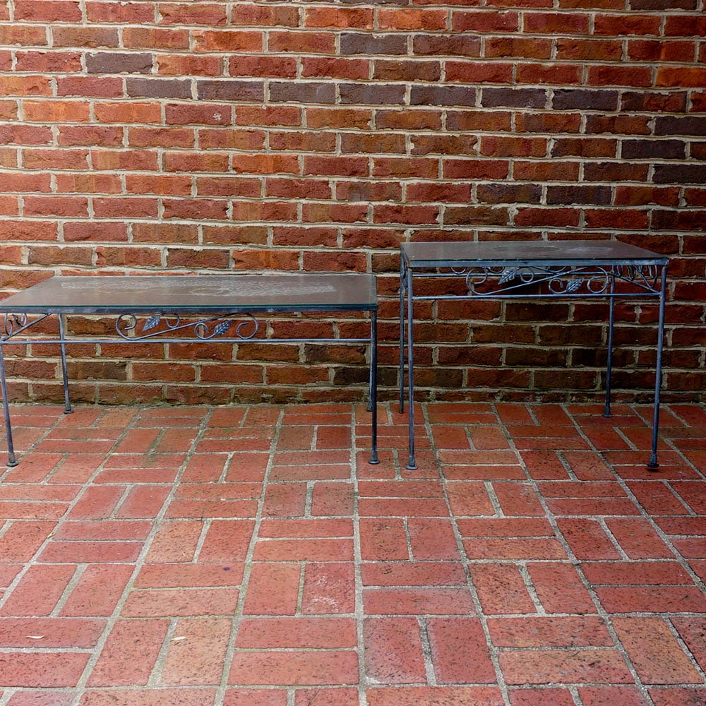 Wrought Iron and Glass Patio Tables
