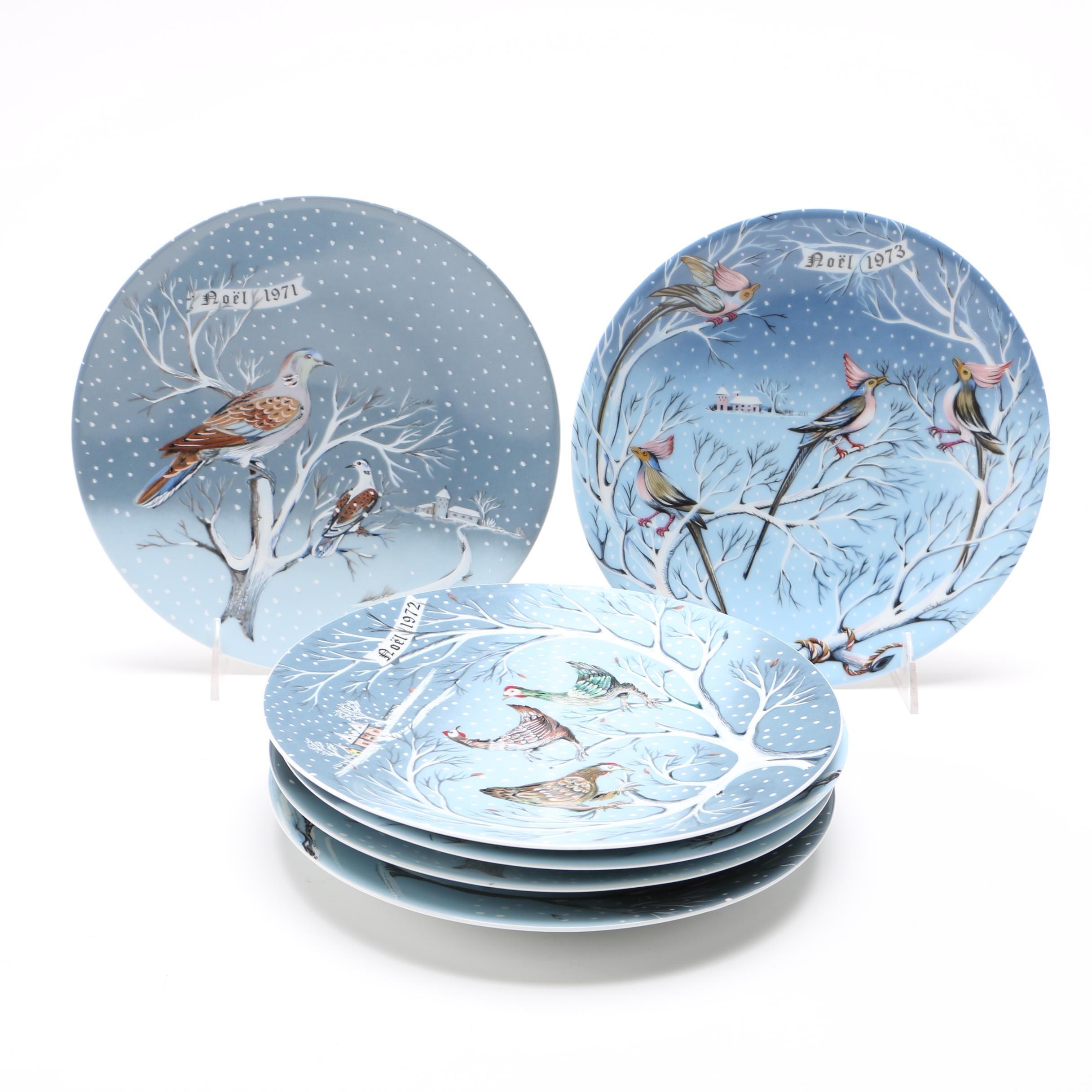 "Haviland Limoges ""The Twelve Days of Christmas"" Plates"