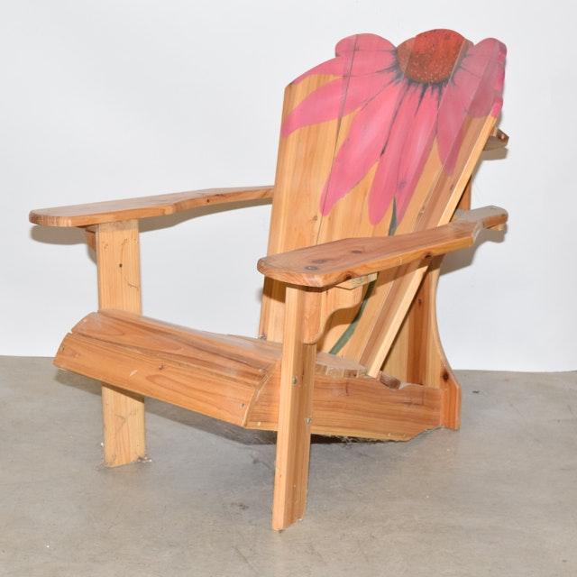 Hand Painted Pine Adirondack Chair