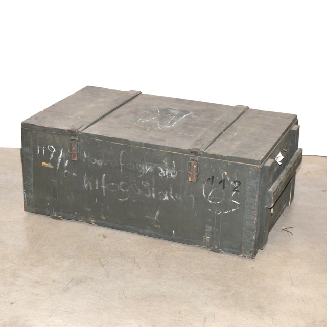 Vintage Military Ammunition Trunk