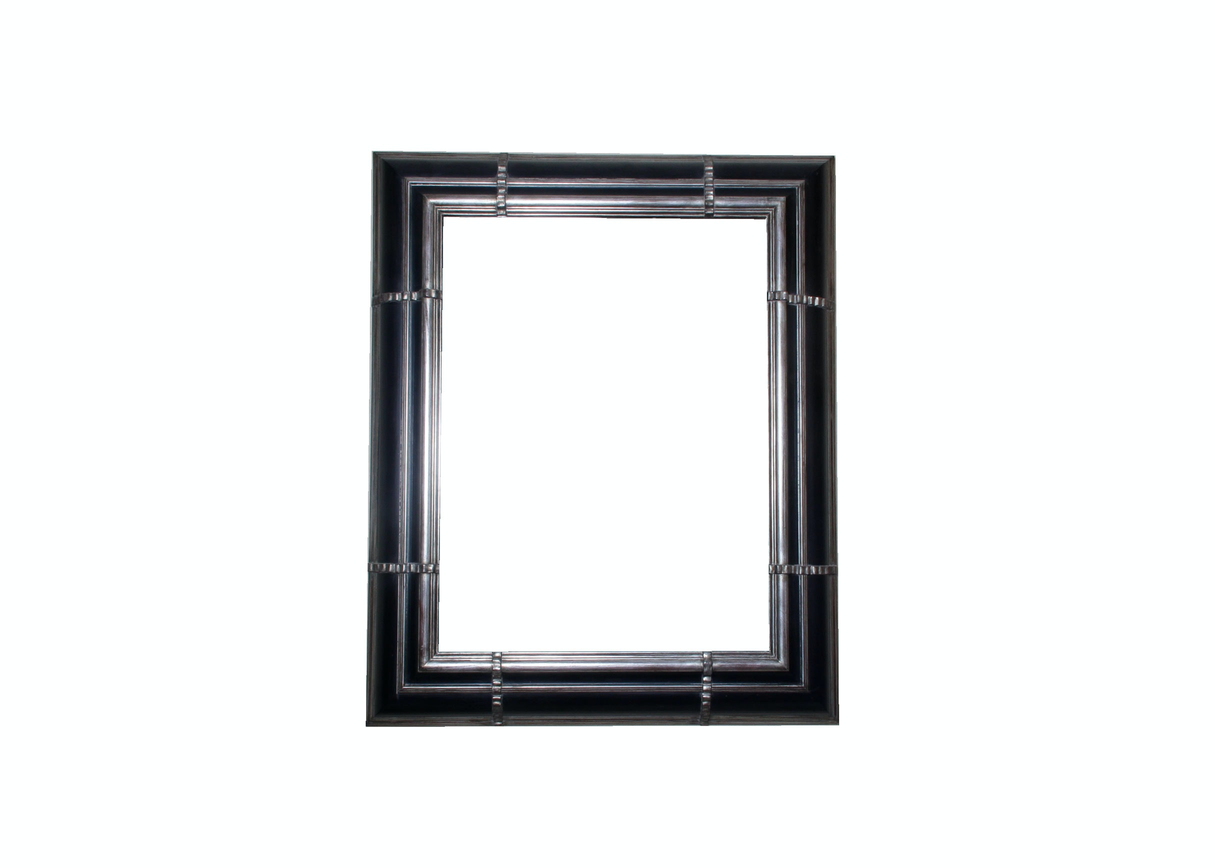 Large Framed and Beveled Wall Mirror