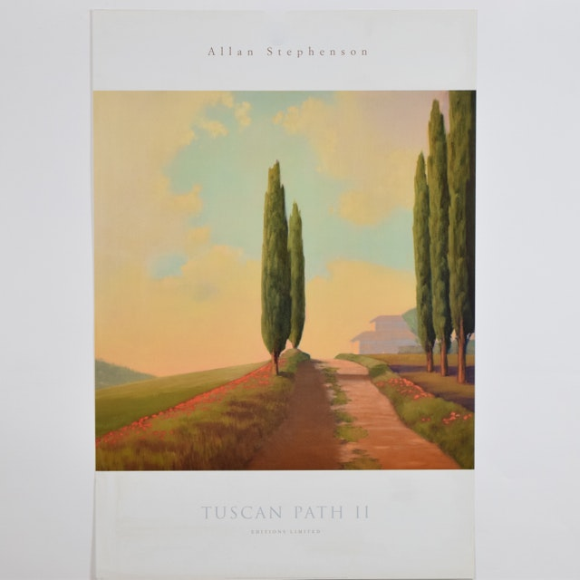 "Offset Lithograph of ""Tuscan Path II"" after Allan Stephenson"
