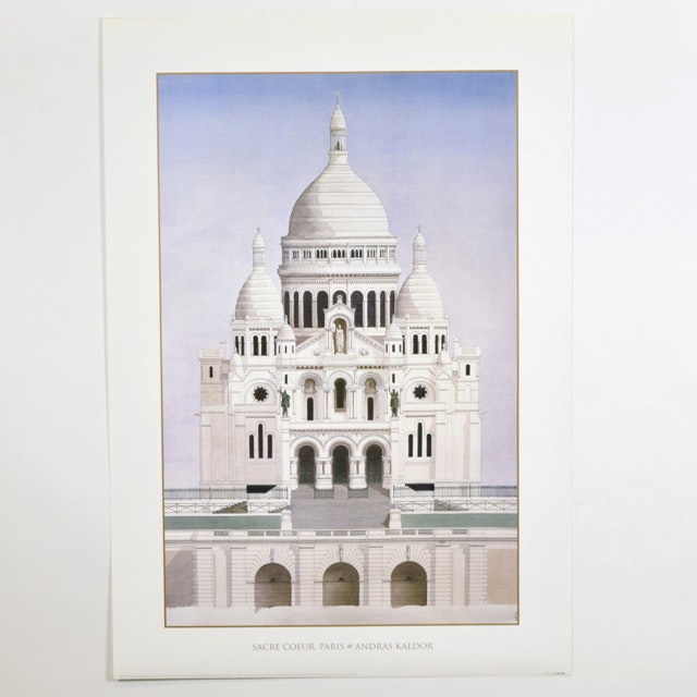 "Offset Lithograph of ""Sacre Coeur, Paris"" after Andras Kaldor"