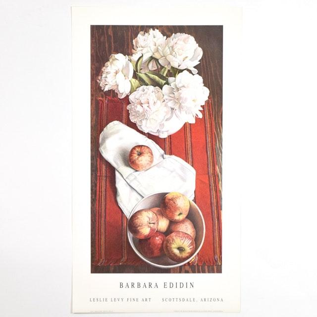 "Offset Lithograph of ""Galas"" After Barbara Edidin of an Apple Themed Still Life"