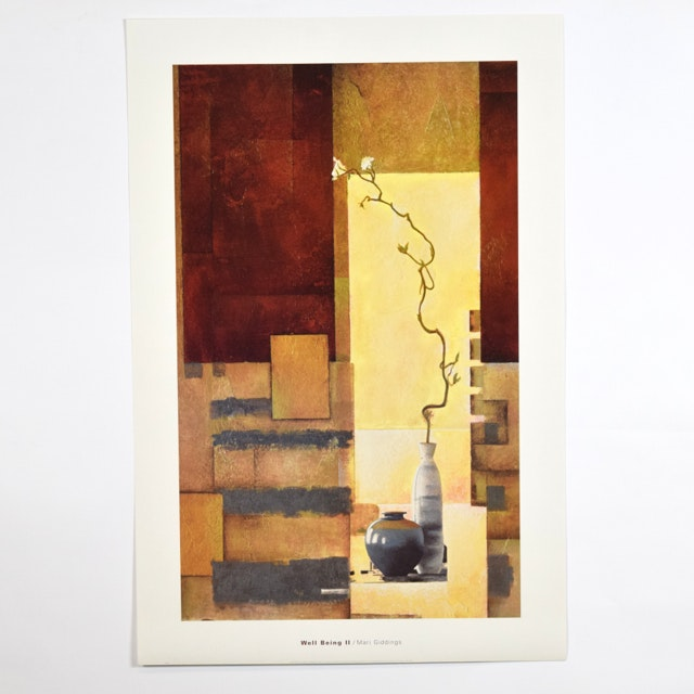 "Offset Lithograph of ""Well Being II"" by Mari Giddings of Abstract Still Life"