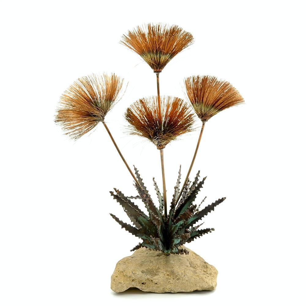 Vintage Desert Flower Scupture