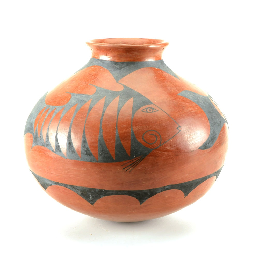 Mexican Style Pottery Vessel