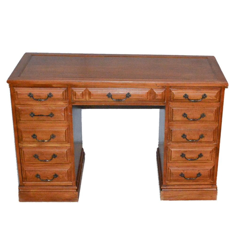 Vintage Pedestal Desk and Chair