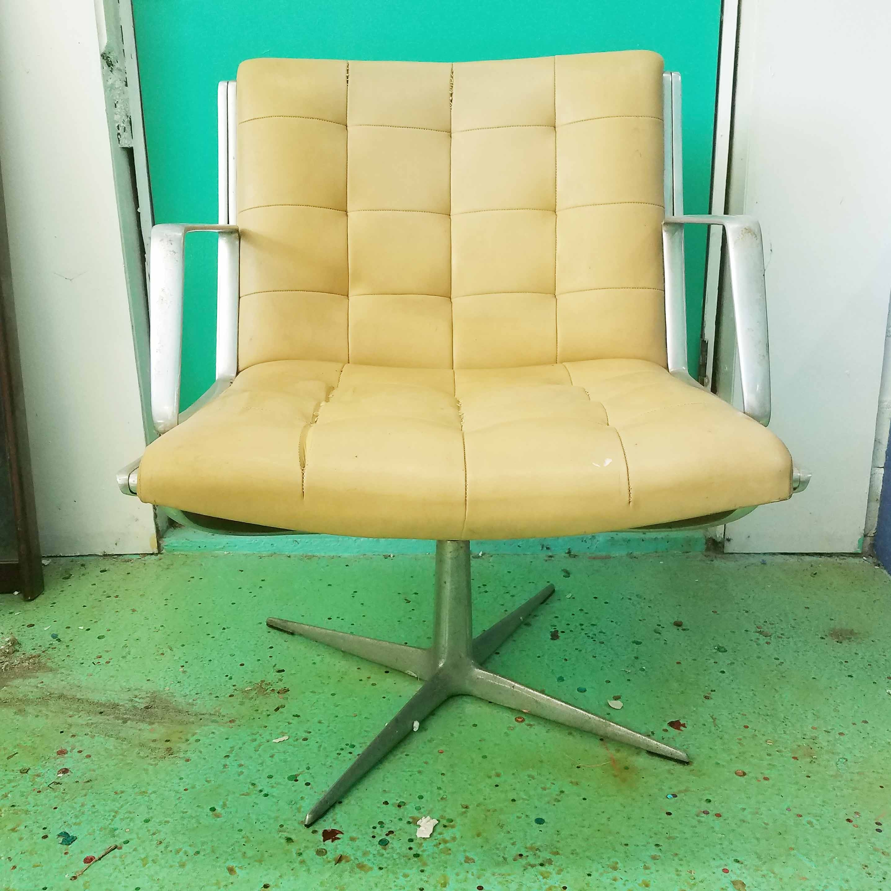 Mid Century Modern Leather Office Chair