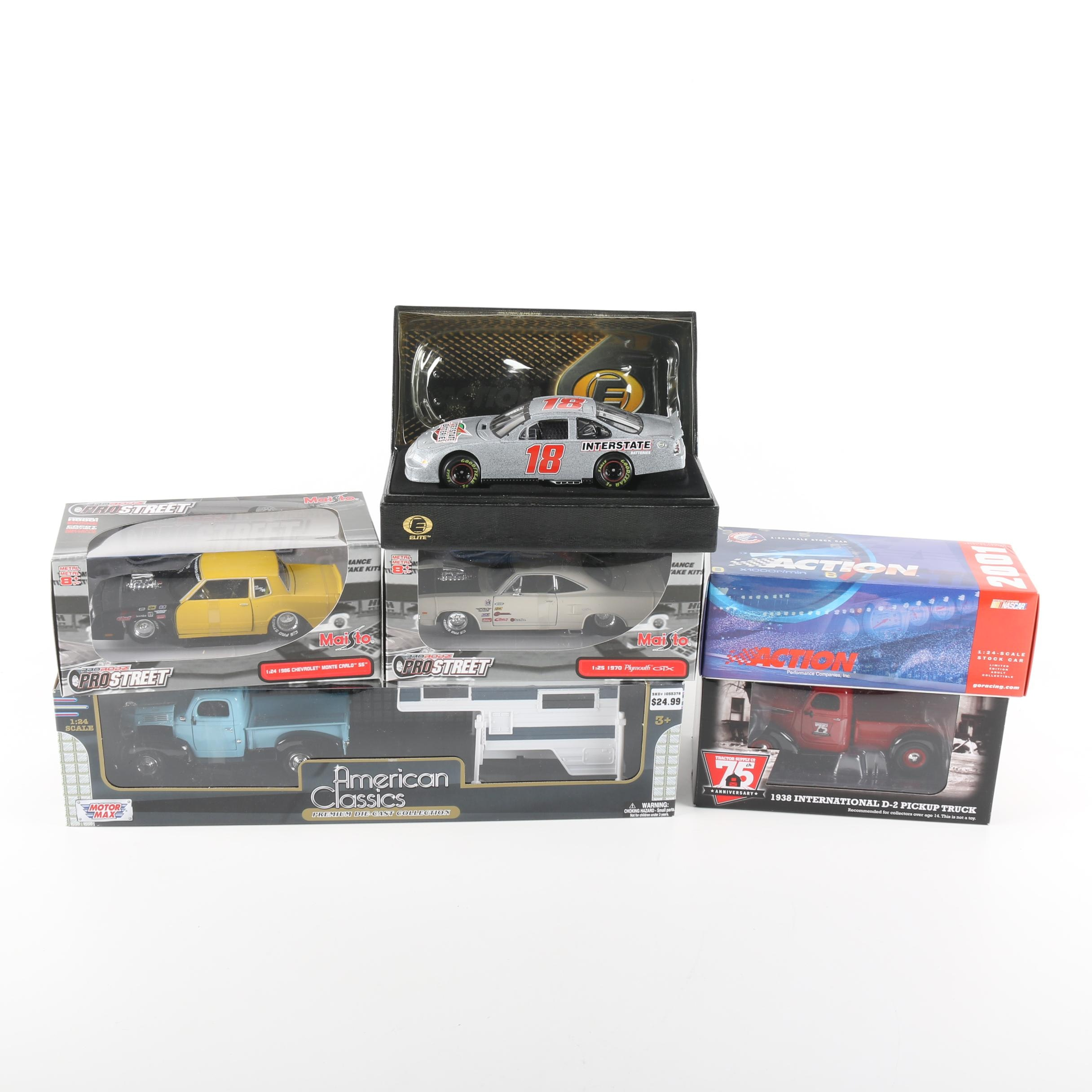Collection of Six Collectible Toy Cars